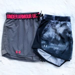 2 Under Armour Women's Large Workout Shorts!